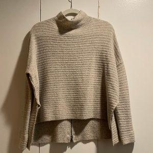 Free People Zip Back Turtleneck Sweater